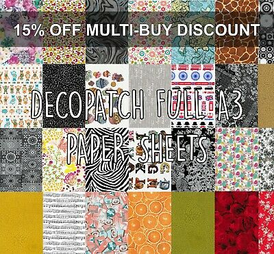 £1.80 • Buy Decopatch Paper Decoupage Full A3 Sheets 100+ Designs With Multibuy Discount