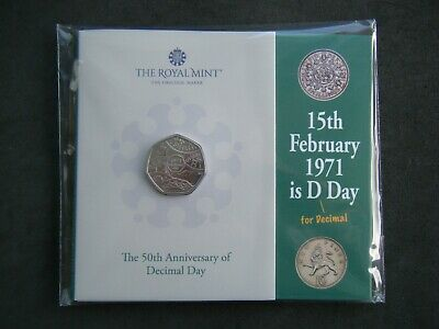 £10.95 • Buy 2021 Royal Mint Decimal Day 50p Fifty Pence UK BU Coin Presentation Pack Sealed