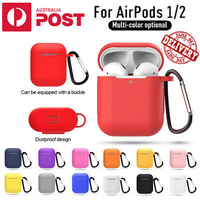 AU4.95 • Buy Silicone Case Cover Skin For Apple AirPods 1 2 Shockproof With Anti-Lost Buckle