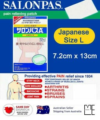 AU21.85 • Buy Hisamitsu SALONPAS Ae Large Size 12pcs Pain Relief Patch MADE IN JAPAN AU STOCK
