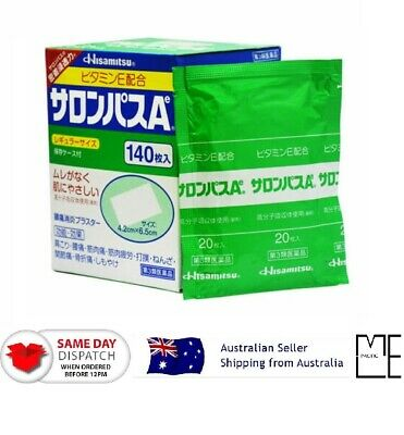 AU30.88 • Buy Hisamitsu SALONPAS Ae Regular Size Pain Relief Patch MADE IN JAPAN Pack Or Box