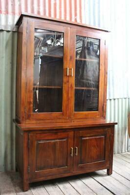AU595 • Buy A Rustic Double Bodied Glazed Display Cabinet Hutch Bookcase From River Clay