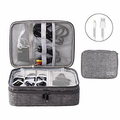 AU32.44 • Buy Accessories Bag Travel Electronics Organiser 3 Layer Cables Case For