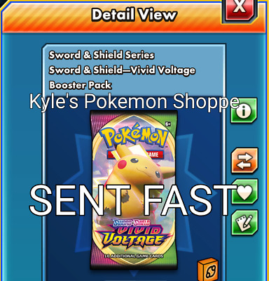 $7.99 • Buy 50 Vivid Voltage Codes Pokemon TCG Online Booster Pack SENT IN-GAME FAST