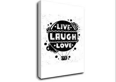 Live Laugh Love 2 Text Quotes 19959 Canvas Print Wall Art • 17.99£