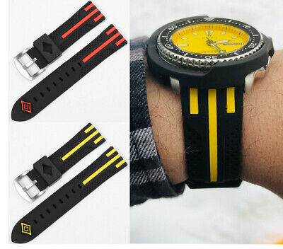 $ CDN14.50 • Buy Watch Silicone Diver Band Rubber Strap 22mm For Seiko Skx007 Turtle Monster Padi