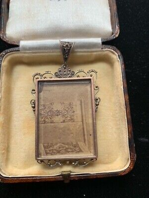 £110 • Buy Antique Victorian Silver And Gold Large Locket Pendant