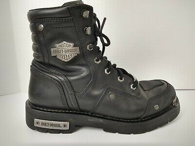 $ CDN76.17 • Buy Harley Davidson Mens Lockwood Black Motorcycle Riding Boots Mens 9.5 M D96096