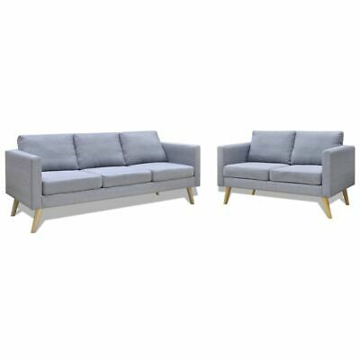 AU787.29 • Buy  2 Piece Sofa Set Fabric Living Room Lounge Couch Padded Light Grey