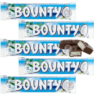 BOUNTY COCONUT MILK CHOCOLATE TWIN BAR 57g – FULL BOX (B.B -14.02.2021) • 9.99£