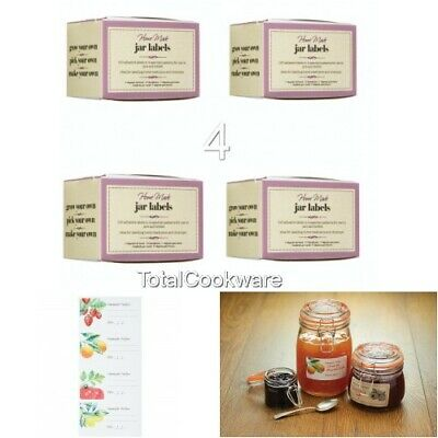 4 Boxes Of Home Made 100 Self-Adhesive Vintage Jar Preserve/Jam Labels • 11.95£