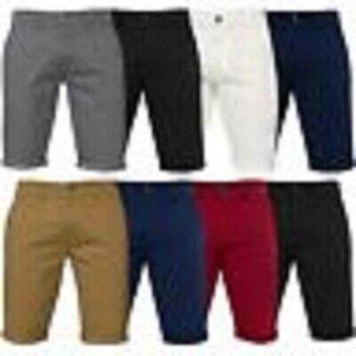 £17.99 • Buy Enzo Mens Chino Skinny Fit Stretch Short Casual Cotton Summer Half Pants RRP £25