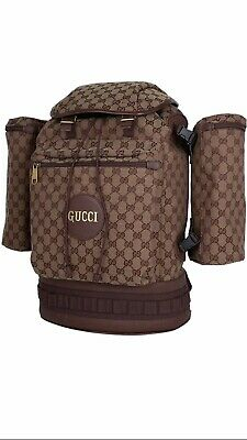 $ CDN2495.45 • Buy 100% Authentic GUCCI Burgundy GG Supreme Canvas Large Backpack