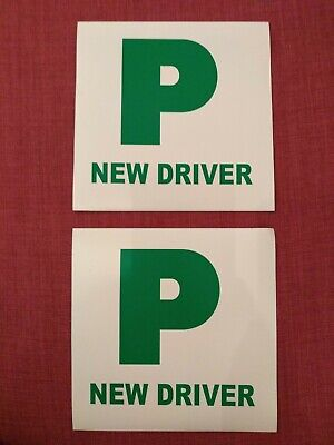 New Driver P Plate Magnetic Signs • 1.40£