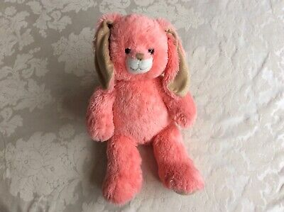 £8 • Buy Build A Bear Workshop Coral Pink Rabbit Bunny Great Used Condition