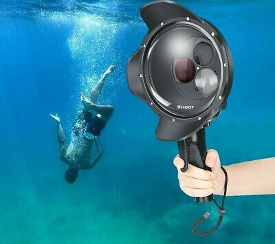 AU136.82 • Buy Diving Dome Port Waterproof Case Black Trigger Housing For Go Pro 7 Accessories
