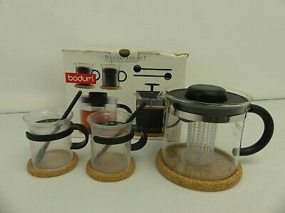 (ref288BM) Bodum Breakfast Set Cafetiere And Cups • 12.99£