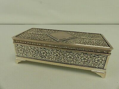 £21.59 • Buy (ref288AU) Silver Plated Jewellery Box - Engraved