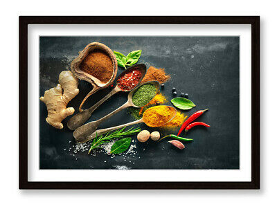 £21.99 • Buy Herbs Kitchen Spices Cafe Framed Wall Artwork Picture Poster Print