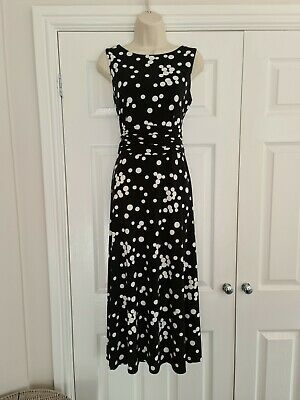 £17.99 • Buy Ladies Black & White Spotted Summer Dress Size 10 By Jessica Howard