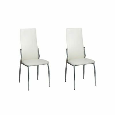 AU160.60 • Buy  2/4/6x Dining Chairs Black Faux Leather PU Premium Kitchen Cafe Seat White
