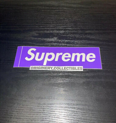 $ CDN50.21 • Buy 100% Authentic Supreme Three 6 Mafia Purple Box Logo Sticker 2012