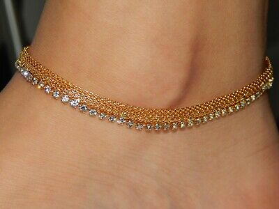 £5.50 • Buy Gold Indian Bell Charm Ankle Bracelet Anklet Foot Chain Pazaib