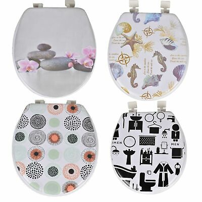 £9.95 • Buy New 17  Padded Toilet Seat Novelty Design Strong Printed Soft Padded Easy Clean