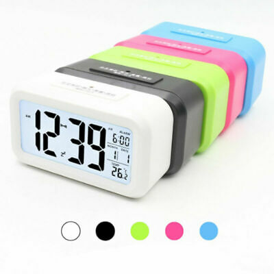 AU17.28 • Buy New Silent Analogue Round Small LCD Electronic Digital Smart Alarm Clock Snooze