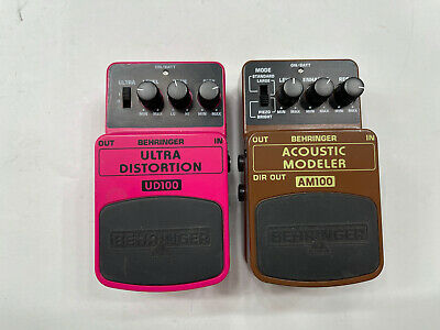 $ CDN124.07 • Buy Behringer UD100 Ultra Distortion AM100 Acoustic Modeler Guitar Effect Pedal Lot