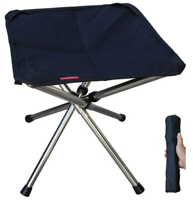 Camping Stool Fishing Seat Foldable Fishing Chair Garden Foot Rest • 19.99£