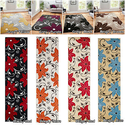 Hallway Runners Area Floral Rugs Low Cost Large Modern Thick Quality Sale Rugs • 39.49£