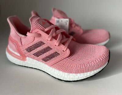 AU156.60 • Buy Adidas Womens Ultraboost 20 EG0716 Glory Pink Running Shoes Lace Up Size 6.5