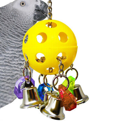 Bellpull Bird Toy Teaser Decoration Hanging Pet Colourful Parrot Cage Teeth Chew • 8.57£