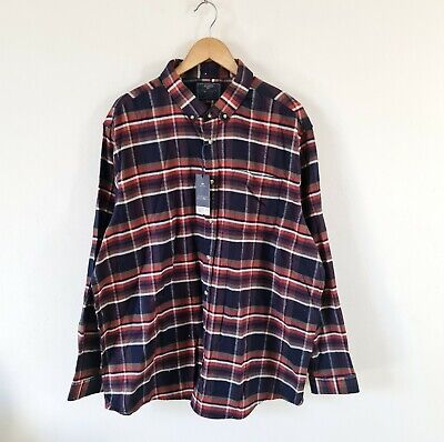 Atlantic Bay Check Brushed Cotton Flannel Shirt Size Xxl 49-51  Chest • 9.99£