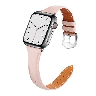AU19.99 • Buy Genuine Leather Strap IWatch Band For Apple Watch Series 6 5 4 3 2 1 SE 40mm 44