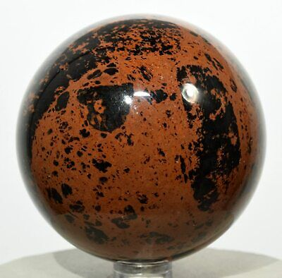 $35.95 • Buy 2.6  Red Mahogany Obsidian Sphere Sparkling Natural Mineral Polished Ball Mexico