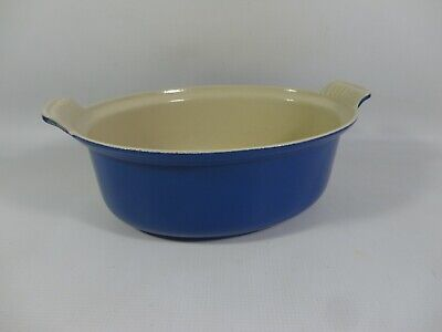 Le Creuset 26 Blue Cast Iron Oval Casserole 26cm Dish Pot NO LID France Cooking • 39.99£