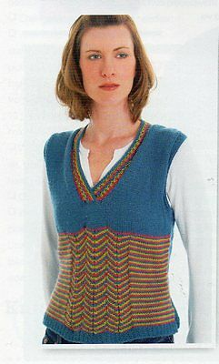 ~ Pull-Out Knitting Patterns For Lady's Tank Top & Child's Fairy Wings ~ Photos • 1.90£