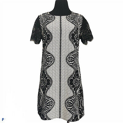 AU22 • Buy Forever New Contemporary Dress Size 10 Medium Lace Print Style Chiffon VGC