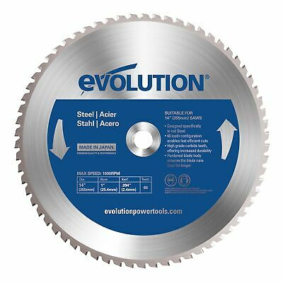 £67.99 • Buy Evolution 66TBLADE 66T TCT Mild Steel Cutting Saw Blade 355mm R355CPS & S355CPS