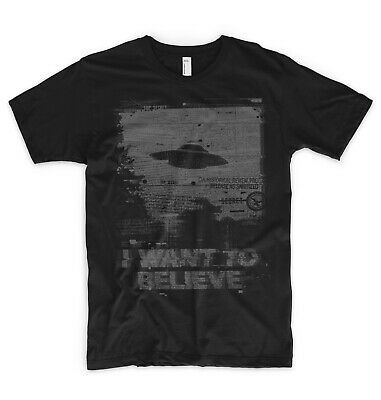 I Want To Believe T Shirt X Files UFO Aliens Greys Area 51 SpaceX NASA Roswell • 11.99£