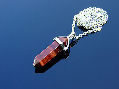 £7.98 • Buy Red Tigers Eye Natural Crystal Point Pendant Gemstone Necklace Healing Stone