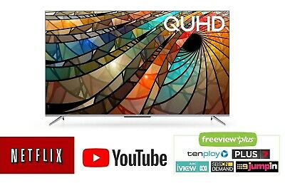 AU489 • Buy TCL 4K HDR 50P715 50  QUHD Smart Android TV W/ Dolby Audio/Netflix/YouTube/Stan