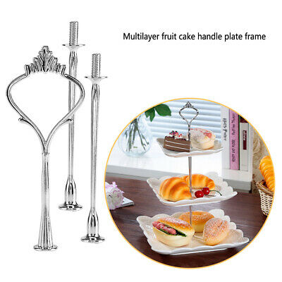 £3.75 • Buy 2/3 Tiers Cake Cupcake Tray Stand Handle Rod Plate Hardware Fitting Holder Rack