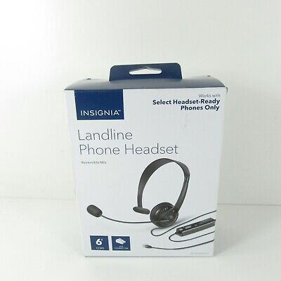 Insignia - Landline Phone Hands-Free Headset With Standard RJ9 Connector - Black • 11.44£