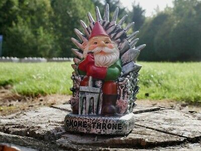 £7.99 • Buy Large Gnome Garden Ornament Throne Novelty Statue Iron Chair GOT Patio Lawn Gift