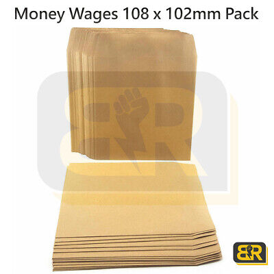 £2.99 • Buy Wage Brown Plain Envelopes 108 X 102mm Pack Money Wages Coin Beads Seeds 100