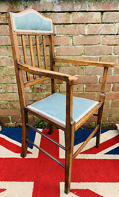 £65 • Buy Gorgeous Late Victorian Rosewood Open Backed Nicely Upholstered Parlour Chair
