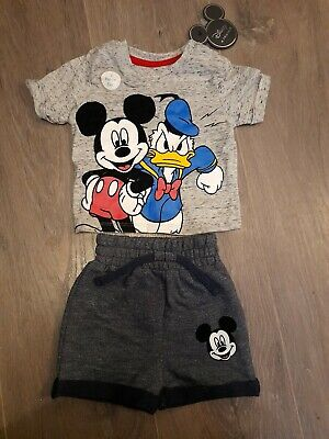 Baby Boys Mickey Mouse Outfit 0-3 Months • 1£